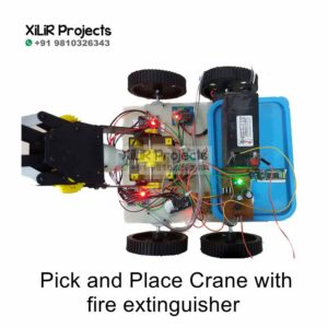 Pick-and-Place Crane with fire extinguisher Project